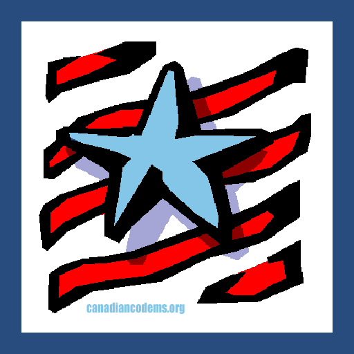 Blue star on red stripes